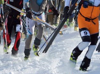 hectic skimo race start