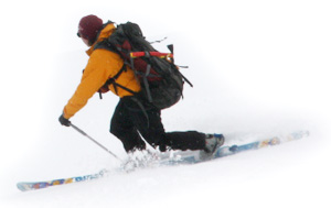 telemark-skiing