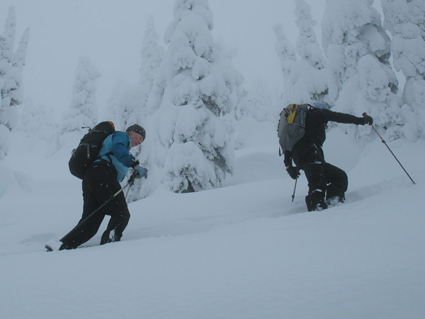 There is never shortage of snow at the Pass.