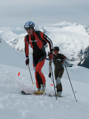 Peter leading a Spaniard Kilian Jornet on his way to win the High Range Classic race at Whistler in 2007. Since then there were few people that beat Kilian again.