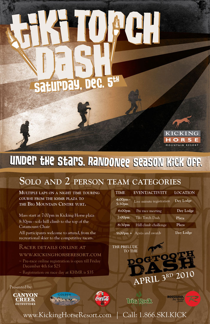 Click image to see the official Tiki Torch Dash 2009 poster.