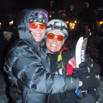 Two fastest girls of Canadian skimo racing: Melanie Bernier and Julie Matteau.
