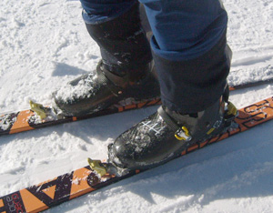 Pierre Gignoux carbon boots and Ski Trab carbon skis. Who's are they?