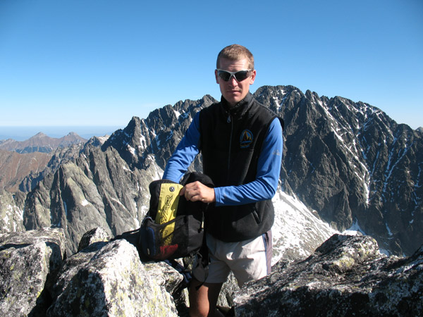 At the top of one of the peaks in High Tatras, Peter's life time training ground...and my old. It's beautiful over there especially in September.