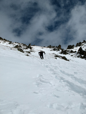 James heading up the boot pack that should be featured in the very last climb.