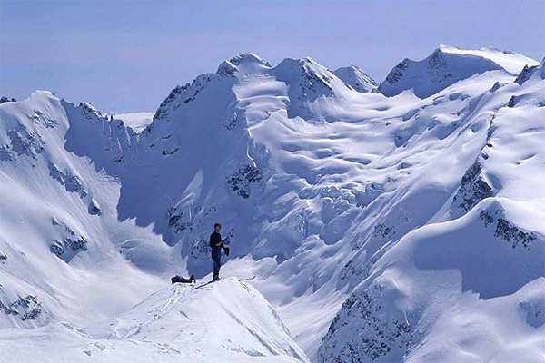 Spearhead Range near Whistler, Coast Mountains. Photo by John Baldwin.