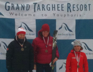 Melanie Bernier second in Grand Targhee.