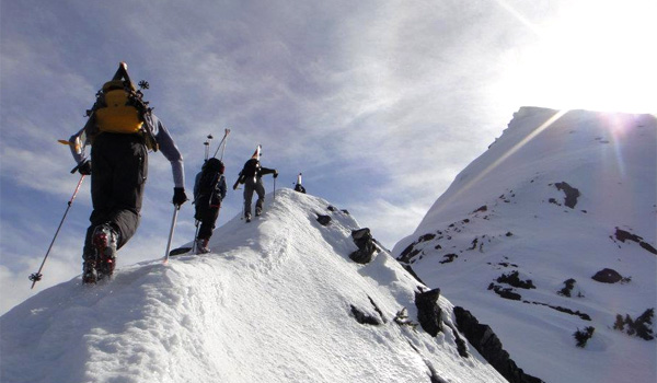 ski mountaineering racing clinic in Nelson