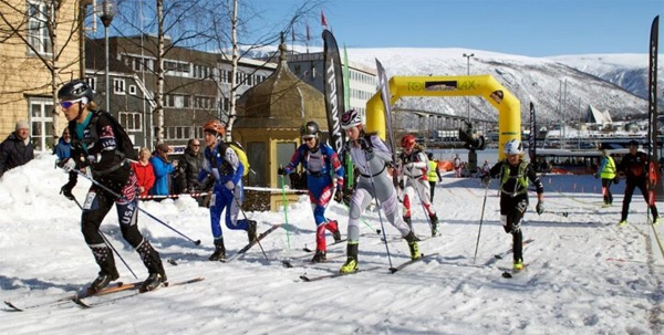 Skimo sprint Tromso, Norway.
