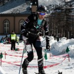 Nina Silitch sprinting.