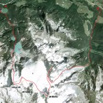 Duffey Lake speed traverse map - Joffre, Matier, Slalok.