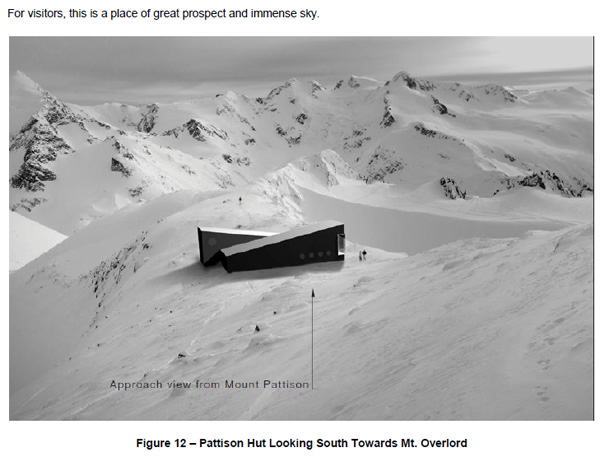 Patisson Hut on the Spearhead Traverse