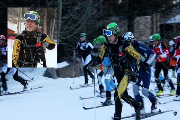 Luke Nelson start of 2012 US skimo champs Jackson Hole.