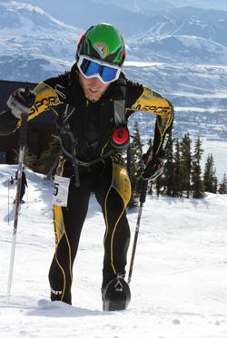 Luke Nelson skimo racing.
