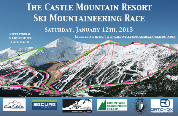 Castle Mountain ski mountaineering race