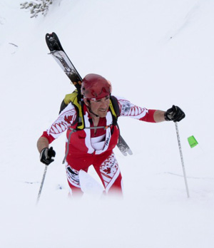 Ian Gale skimo racing.