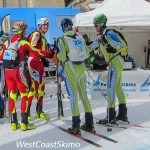 After getting the best of the Slovenian team Reiner Thoni and Andrew McNab shaking hands with the rivals. Photo by Brad Schalles (http://westcoastskimo.blogspot.ca).