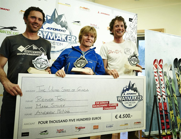 Reiner, Mark and Andrew with the big cheque!