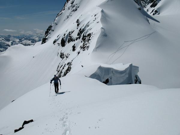 Brad on the cool approach ridge.