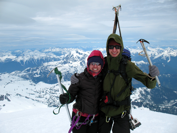 This trip was for Kate and Martin. Not many teenagers get to ski off the summit of Mt Baker.
