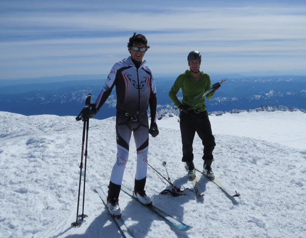 Eric and Nick on the summit in 3h 37min.