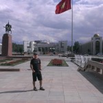 Peter at Ala-too square in Bishkek.