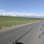 Kyrgyzstan is a beautiful country. This big platoe is at 3000m with peaks rising up to 5000m.