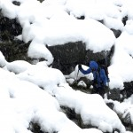Creek crossing in the snow.