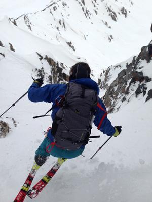 Max steep skiing.