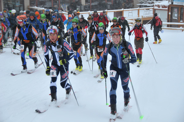 At the start of the 2013 Five Peaks race in Breckenridge, CO. They won this one too.