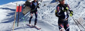 John Gaston (left) and Max Taam holding on to the lead in teams at 2013 Wasatch Powder Keg.