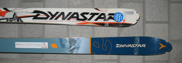 My all time favourite pair of skis I ever had, the white Dynastar Pierra Menta at 164cm.