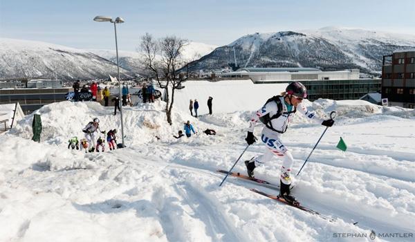 Nina leading finals in Tromso (April, 2013).