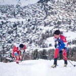 Killian and Matheo racing to the finish of the World Cup Vertical Race in Verbier. (ISMF Photo)