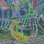 Vertical race course map.