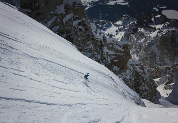 On the Grand Teton last April - the photo was taken just above the Otter Body on the East Face. Photo by Jason Dorais.