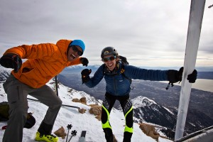 The end of a 15k ft day on Mt Timpanogos. Jason Dorais and I skied the Grunge Couloir, East Ridge and the West Face and tagged the North, South, and Main Summits.