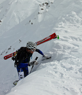 Peter during his first skimo race back in 2010.