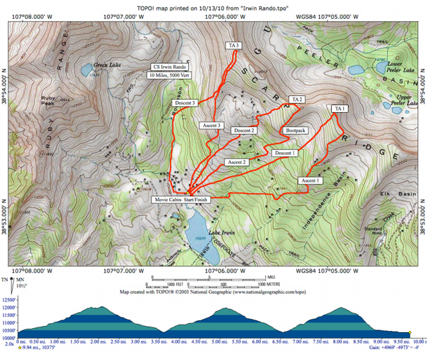 irwin-skimo-race-map