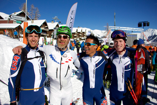 US boys having a good times in the finish! Photo Eric Carter.