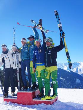 Men's podium.