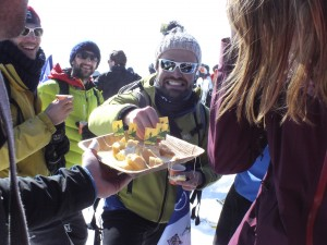 Cheese-mania on the summit of Grand Mont