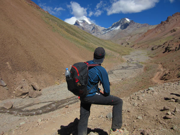 Looking up the valley towards Aconcagua.