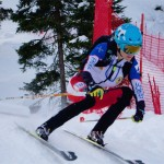 Laetitia Roux going for another gold in World Cup last weekend.