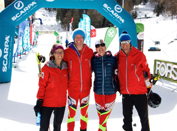 Canadian Team: Michelle Roberts, Travis Brown, Melanie Bernier, Nick Elson.