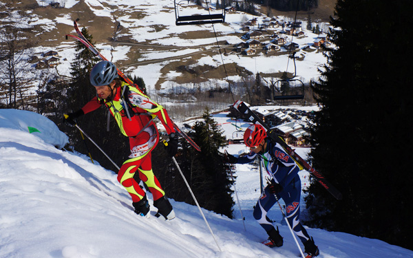 Nick Elson with Eric Carter today at Pierra Menta. Photo by Andrea Kuba.