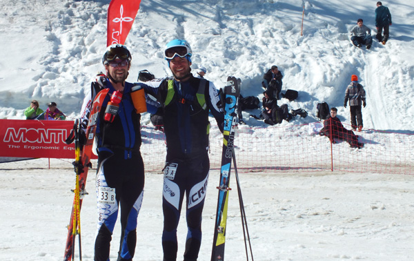 Eric Bunce and Nick Francis happy at the finish today. Photo by Jennie.