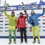 Men's Font Blanca Individual World Cup Podium. ISMF Photo