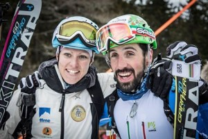 Roux and Antonioli are the European Sprint Champions! ISMF Photo.
