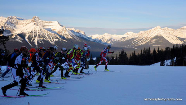 Canadian Rockies showing all their beauty during the Canadian Nationals. Photo by Osmosis Photography.